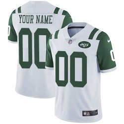 Limited Men's Custom New York Jets Nike ized Jersey - White