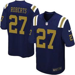 Limited Men's Darryl Roberts New York Jets Nike Alternate Vapor Untouchable Jersey - Navy Blue