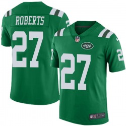 Limited Men's Darryl Roberts New York Jets Nike Color Rush Jersey - Green