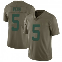 Limited Men's Davis Webb New York Jets Nike 2017 Salute to Service Jersey - Green