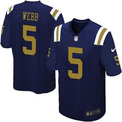Limited Men's Davis Webb New York Jets Nike Alternate Vapor Untouchable Jersey - Navy Blue