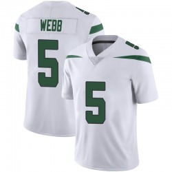 Limited Men's Davis Webb New York Jets Nike Vapor Jersey - Spotlight White