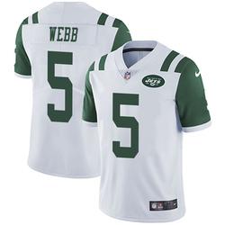 Limited Men's Davis Webb New York Jets Nike Vapor Untouchable Jersey - White