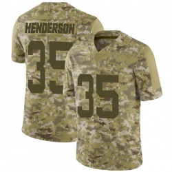 Limited Men's De'Angelo Henderson New York Jets Nike 2018 Salute to Service Jersey - Camo