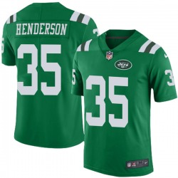 Limited Men's De'Angelo Henderson New York Jets Nike Color Rush Jersey - Green