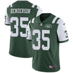 Limited Men's De'Angelo Henderson New York Jets Nike Team Color Vapor Untouchable Jersey - Green