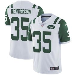 Limited Men's De'Angelo Henderson New York Jets Nike Vapor Untouchable Jersey - White