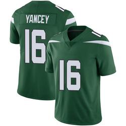 Limited Men's DeAngelo Yancey New York Jets Nike Vapor Jersey - Gotham Green