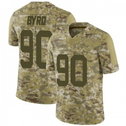 Limited Men's Dennis Byrd New York Jets Nike 2018 Salute to Service Jersey - Camo