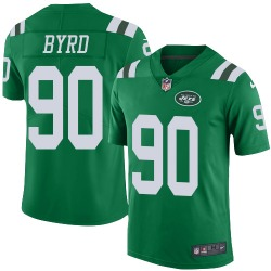 Limited Men's Dennis Byrd New York Jets Nike Color Rush Jersey - Green