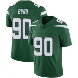 Limited Men's Dennis Byrd New York Jets Nike Vapor Jersey - Gotham Green