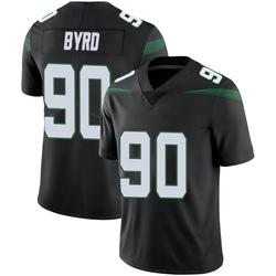 Limited Men's Dennis Byrd New York Jets Nike Vapor Jersey - Stealth Black