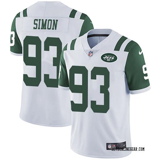 more photos bbcd5 e9624 Limited Men's Deon Simon New York Jets Nike Vapor Untouchable Jersey - White