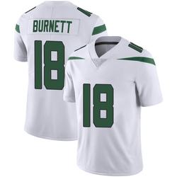Limited Men's Deontay Burnett New York Jets Nike Vapor Jersey - Spotlight White