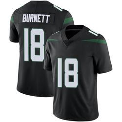 Limited Men's Deontay Burnett New York Jets Nike Vapor Jersey - Stealth Black