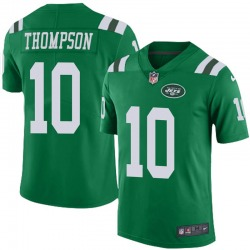 Limited Men's Deonte Thompson New York Jets Nike Color Rush Jersey - Green