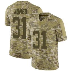 Limited Men's Derrick Jones New York Jets Nike 2018 Salute to Service Jersey - Camo