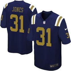 Limited Men's Derrick Jones New York Jets Nike Alternate Vapor Untouchable Jersey - Navy Blue