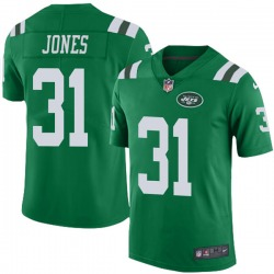 Limited Men's Derrick Jones New York Jets Nike Color Rush Jersey - Green