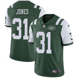 Limited Men's Derrick Jones New York Jets Nike Team Color Vapor Untouchable Jersey - Green