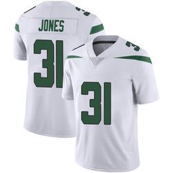 Limited Men's Derrick Jones New York Jets Nike Vapor Jersey - Spotlight White