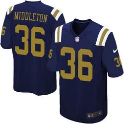 Limited Men's Doug Middleton New York Jets Nike Alternate Vapor Untouchable Jersey - Navy Blue