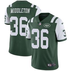 Limited Men's Doug Middleton New York Jets Nike Team Color Vapor Untouchable Jersey - Green