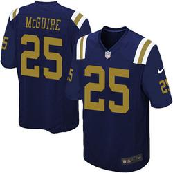 Limited Men's Elijah McGuire New York Jets Nike Alternate Vapor Untouchable Jersey - Navy Blue