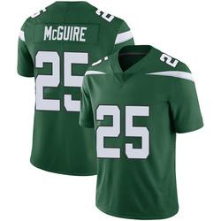 Limited Men's Elijah McGuire New York Jets Nike Vapor Jersey - Gotham Green
