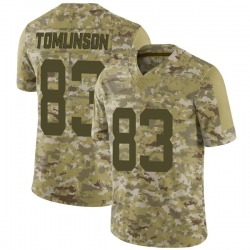 Limited Men's Eric Tomlinson New York Jets Nike 2018 Salute to Service Jersey - Camo