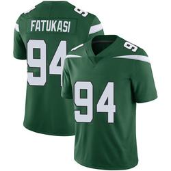 Limited Men's Folorunso Fatukasi New York Jets Nike Vapor Jersey - Gotham Green