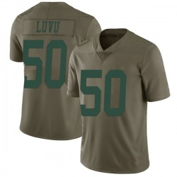 Limited Men's Frankie Luvu New York Jets Nike 2017 Salute to Service Jersey - Green