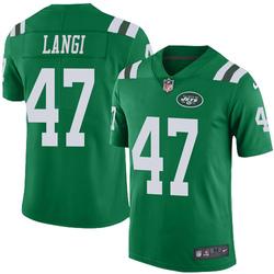 Limited Men's Harvey Langi New York Jets Nike Color Rush Jersey - Green