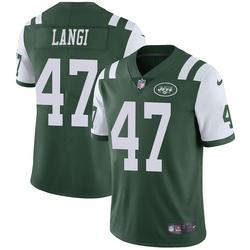 Limited Men's Harvey Langi New York Jets Nike Team Color Vapor Untouchable Jersey - Green