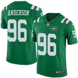 Limited Men's Henry Anderson New York Jets Nike Color Rush Jersey - Green