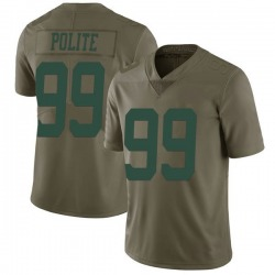 Limited Men's Jachai Polite New York Jets Nike 2017 Salute to Service Jersey - Green