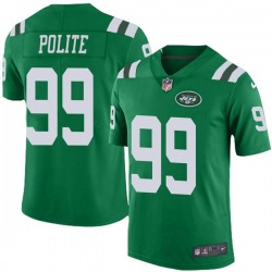 Limited Men's Jachai Polite New York Jets Nike Color Rush Jersey - Green