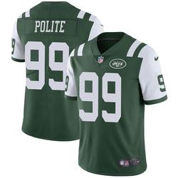 Limited Men's Jachai Polite New York Jets Nike Team Color Vapor Untouchable Jersey - Green