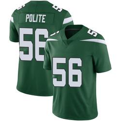Limited Men's Jachai Polite New York Jets Nike Vapor Jersey - Gotham Green