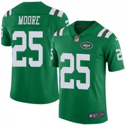 Limited Men's Jalin Moore New York Jets Nike Color Rush Jersey - Green