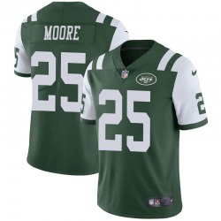 Limited Men's Jalin Moore New York Jets Nike Team Color Vapor Untouchable Jersey - Green