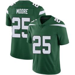 Limited Men's Jalin Moore New York Jets Nike Vapor Jersey - Gotham Green
