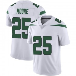 Limited Men's Jalin Moore New York Jets Nike Vapor Jersey - Spotlight White
