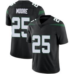 Limited Men's Jalin Moore New York Jets Nike Vapor Jersey - Stealth Black