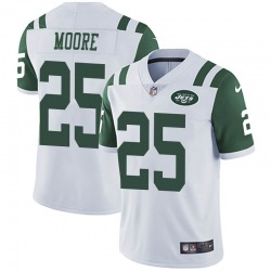 Limited Men's Jalin Moore New York Jets Nike Vapor Untouchable Jersey - White