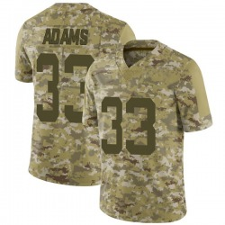 Limited Men's Jamal Adams New York Jets Nike 2018 Salute to Service Jersey - Camo