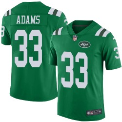 Limited Men's Jamal Adams New York Jets Nike Color Rush Jersey - Green