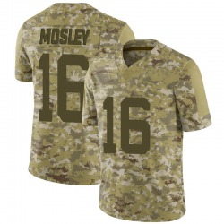 Limited Men's Jamey Mosley New York Jets Nike 2018 Salute to Service Jersey - Camo