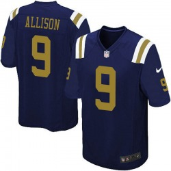 Limited Men's Jeff Allison New York Jets Nike Alternate Vapor Untouchable Jersey - Navy Blue
