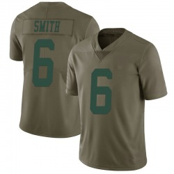 Limited Men's Jeff Smith New York Jets Nike 2017 Salute to Service Jersey - Green